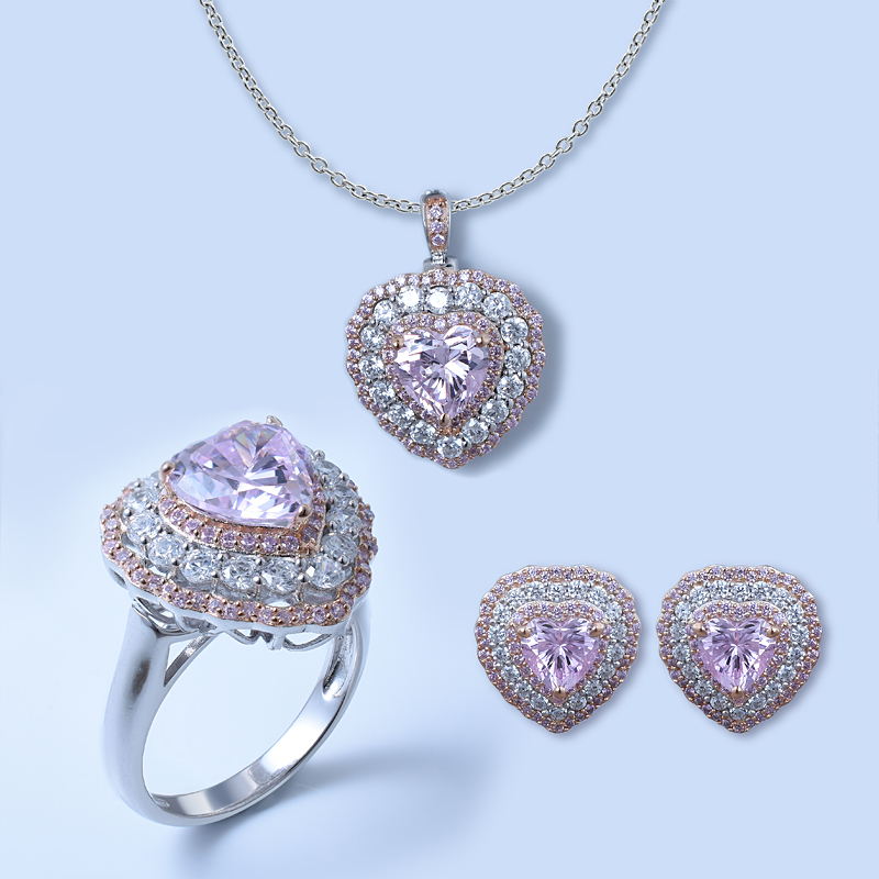 Heart Shape 925 Jewelry Set